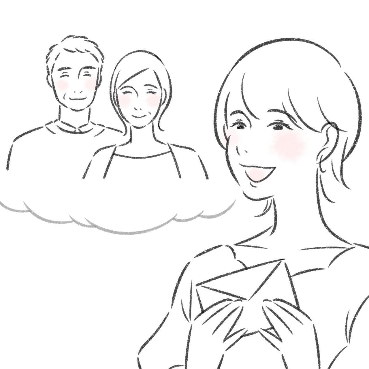 アトムストーリー新井 日向子の仕事に対する想いイラスト